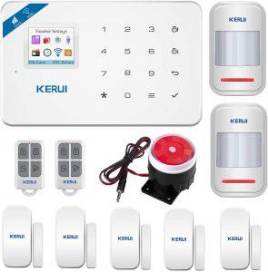 KERUI-W18 WiFi GSM SMS APP Télécommande Système d'alarme de sécurité Accueil, Détecteur de Ouverture Porte